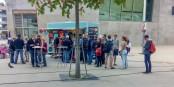 Schlangestehen für Mangelware am VEB Mexiko Freiburg-West. Foto: IM Bicker