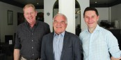 Jacques Jolas (FEFA), Jean-Georges Mandon (FEFA), Pierre-Yves Le Borgn' - drei Kämpfer für die deutsch-französische Freundschaft. Foto: KL