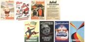 Acht historische BW-Wajlplakate - darunter eines zur Südweststaatabstimmung am 9. Dezember 1951 mit Europa-Thematik. Foto: LzpB