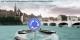 Dans le monde de Plonk & Replonk, la navigation fluviale sur le Rhin à Bâle doit s'habituer à des ronds-points. La Police surveillera. Foto: © Plonk& Replonk / Cartoonmuseum Basel