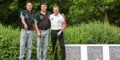 Weltmeister Franck Leboeuf, Franck Rolling und Nationalspieler Martin Wagner treffen sich am 5. und 6. Juni wieder. Foto: Esteban Gwinner pour Golfoot