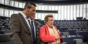 Catherine Trautmann musste Edouard Martin erklären, wie es im Parlament zugeht. Kompetenz zählt bei der PS in Paris nicht so sehr. Foto: © Claude Truong-Ngoc / eurojournaliste.eu