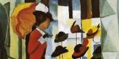"""Déjà du temps du grand peintre allemand August Macke (""""Der Hutladen""""), les soldes attiraient du monde. Foto: Public Domain / Wikimedia Commons"""