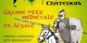 Ein Wochenende lang Mittelalter gibt's in Châtenois - auch bei hohen Temperaturen cool. Foto: Organisatoren