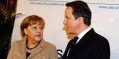 Die beiden treten gerade die europäische Demokratie mit Füssen - Merkel und Cameron. Foto: Sebastian Zwez / www.securityconference.de / WIkimedia Commons