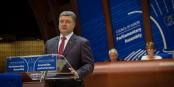 """Petro Poroschenko vor dem Europarat: """"Schön, dass Russland der Ukraine nicht mehr den Krieg erklären kann. Nur wütet bereits ein nicht erklärter Krieg."""" Foto: © Claude Truong-Ngoc / Eurojournalist(e)"""