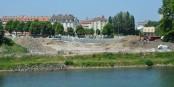 Les travaux progressent sur la rive strasbourgeoise. Foto: © Ville de Kehl
