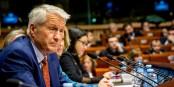 Hier, Torbjorn Jagland a été réélu comme Secrétaire Général du Conseil d'Europe. Foto: Claude Truong-Ngoc