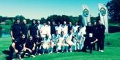 Französische und deutsche Fußballcracks spielten in Straßburg Golf für einen guten Zweck. Foto: MAWA / Golfoot
