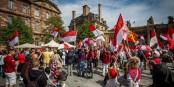 Le week-end dernier, ils n'étaient que 250 manifestants à se prononcer contre la fusion Alsace-Lorraine. La France a d'autres soucis en ce moment. Foto: © Claude Truong-Ngoc / eurojournalist(e)