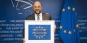 Martin Schulz était candidat à pas mal de postes ces derniers temps. Maintenant, il a retrouvé la place qui lui convient le mieux. Foto: © European Union 2014 EP