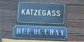 Dans les ruelles d'Erstein, la proximité avec Lahr se lit aussi sur les noms des rues. Foto: Herinstein / Wikimedia Commons / CC-BY-SA 2.5
