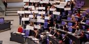 Die Linke au Bundestag - mais une prochaine coalition avec le SPD et les Verts semble exclue. Foto: DieLinke Sachsen / Wikimedia Commons / CC-BY 2.0
