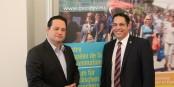 Verbraucherschutz-Minister Alexander Bonde und Joachim Schulz, Vorstandsreferent des ZEV - einig im Kampf für mehr Verbraucherschutz. Foto: © Kai Littmann