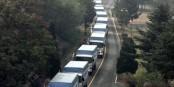 Un convoi est en train de zigzaguer vers la frontière ukrainienne - un cheval de Troie ? Foto: Renée Sitler / Wikimedia Commons / PD
