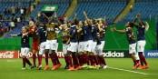 So jubelten die französischen U20-Frauen nach dem 4:3 im Elfmeterschießen gegen Südkorea. Foto: Erny Jacky / FFF