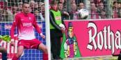 Pavel Krmas, défenseur tchèque du SC Freiburg, a ouvert la marque contre Stoke City. Foto: Kai Littmann