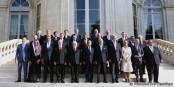 In der Frage der Bekämpfung der IS haben François Hollande und Laurent Fabius einen richtig guten Job gemacht. Foto: © Présidence de la République / L. Blevennec