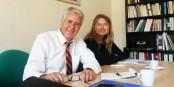 """Gérard Bouquet et Norma Serpin défendent l'idée des """"Etats-Unis d'Europe"""" au sein du Parti Fédéraliste Européen. Foto: Kai Littmann"""