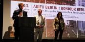 Le directeur du CFB Florian Fangmann et les sociétaires du Centre G. Dufresne (CEI) et Dr. B. Hoppe (SPI). Foto: Kai Littmann