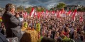 Le message que les manifestants strasbourgeois ont envoyé à Paris ne constitue pas l'expression de la volonté des Alsaciens. Seulement celle d'une partie des Alsaciens. Foto: © Claude Truong-Ngoc / Eurojournalist(e)