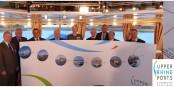 Die Verantwortlichen der neun Rheinhäfen am Oberrhein können stolz sein. Sind sie auch. Foto: Projektträger