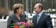 L'époque où Vladimir Poutine offrait des fleurs à Angela Merkel, est terminée. Le ton entre les deux devient glacial. Foto: RIA Novosti / Archive image #186607 / Vladimir Riodonov / Wikimedia Commons / CC-BY-SA 3.0
