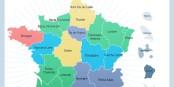 Oben rechts, in grün, die Konfiguration der neuen Großregion Ostfrankreichs. So sieht's aus. Foto: www.gouvernement.fr