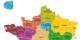 Es ist entschieden - so (in Gelb) sieht die neue ostfranzösische Großregion aus. Mehr eine Chance als ein Todesurteil... Foto: © Ministère de l'Intérieur