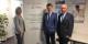 Petra Schmidt, chef de projet, Dr. Andreas Schwab et Horst Sahrbacher - ensemble pour un avenir franco-allemand. Foto: Roswitha Huber / Agentur für Arbeit
