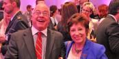 Yveline Moeglen avec un autre grand défenseur de l'amitié franco-allemande, René Eckhardt. Foto: Eurojournalist(e)