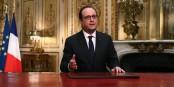 Bei seiner Neujahrsansprache war es für Präsident Hollande nicht einfach, Optimismus zu verbreiten. Foto: (c) Présidence de la République / L. Blevennec