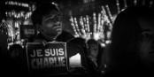 """Wie hier in Straßburg demonstrierten gestern Abend die Franzosen ihren Schmerz und ihr Mitgefühl mit den Opfern von """"Charlie Hebdo"""". Foto: Claude Truong-Ngoc / Eurojournalist(e)"""