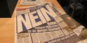 Avec cette action, la BILD-Zeitung tente de monter les Allemands contre le peuple grec. Une honte. Foto: Eurojournalist(e)