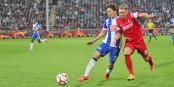 Felix Klaus (à droite) a ouvert le score à Berlin dès la 14e minute. Cette fois, le SC Freiburg a tenu bon. Foto: Eurojournalist(e)