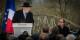 Großrabbiner Gutmann und Präsident Hollande zeigten sich von der Verwüstung des jüdischen Friedhofs in Sarre-Union betroffen. Foto: Claude Truong-Ngoc / Eurojournalist(e)