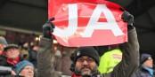 On devine comment ce supporteur du SC Freiburg a voté dimanche... Foto: Eurojournalist(e)