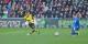 Pierre-Emerick Aubameyang, l'homme du match, marque le 0-2 contre une équipe fribourgeoise en proie du doute. Foto: Eurojournalist(e)
