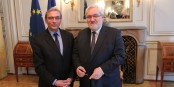 Roland Ries und Jean-marc Todeschini gestern in Strassburg - nur zusammen geht es voran. Foto: Eurojournalist(e)