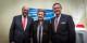 Martin Schulz, Catherine Trautmann und Julius Georg Luy nach der Auszeichnung der ehemaligen französischen Ministerin. Foto: Claude Truong-Ngoc / Eurojournalist(e)