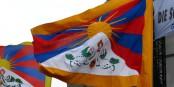 Die Schneelöwen-Fahne wehte gestern wieder auf dem Rathaus in lahr - als Zeichen der Solidarität mit Tibet. Foto: roland zh / Wikimedia Commons / CC-BY-SA 3.0