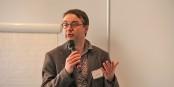 Vincent Goulet lors de la présentation de son étude sur la mobilité professionnelle des jeunes Haut-Rhinois. Foto: Eurojournalist(e)