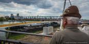 Le chantier du pont du nouveau tram reliant Strasbourg et Kehl avance à grands pas. Foto: Claude Truong-Ngoc / Eurojournalist(e)