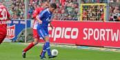 L'attaquant vedette de Schalke 04, Klaas-Jan Huntelaar, ne pouvait rien conte une défense fribourgeoise concentrée. Foto: Eurojournalist.eu