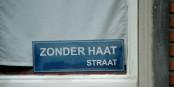 """Des citoyens néerlandais donnent le bon exemple, en déclarant leur rue """"rue sans haine"""". Foto: Wasily at Dutch Wikipedia / Wikimedia Commons / PD"""