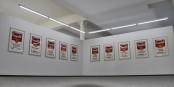 """Dans le cadre de l'exposition Andy Warhol à Riegel, le public peut admirer l'intégralité de la """"série II"""" des célèbres """"Soupes Campbell"""" - et bien plus encore ! Foto: Eurojournalist(e)"""