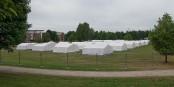 Une majorité des allemands ne veut pas que les demandeurs d'asile soient accueillis dans des tentes qui sont considérées comme indignes. Foto: An-d / Wikimedia Commons / CC-BY-SA 3.0