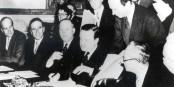 L'Allemagne était bien contente devoir signer Hermann Josef Abs l'accord sur l'annulation de la dette allemande en 1953... Foto: Deutsche Bank AG, Kultur und Gesellschaft, Historisches Institut, FFM / Wikimedia Commons / CC-BY-SA 3.0