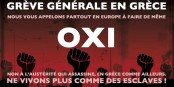 L'appel à une grève européenne ne sera pas suivi dans les pays européens, ce qui ajoutera à la souffrance du peuple grec. Foto: OXI