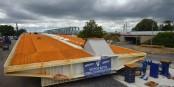 So sieht das zweite Teilstück der neuen Trambrücke zwischen Kehl und Straßburg aus. Und die Brücke wird bald fertig sein! Foto: Annette Lipowsky / Stadt Kehl